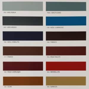 foto de carta de colores esmalte sintético Dokapi