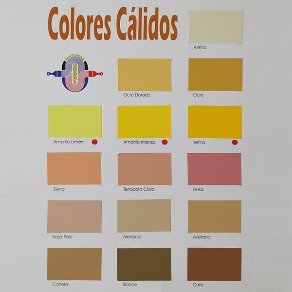 foto 1 de carta de colores revestimiento Covalpi