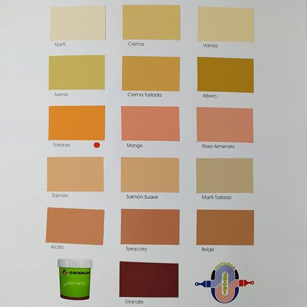 foto 2 de carta de colores revestimiento Covalpi