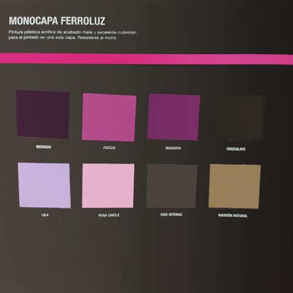 imagen 2 de carta de colores de pintura monocapa de colores Ferroluz