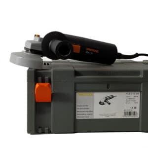 foto de amoladora APG 115 sobre maletín