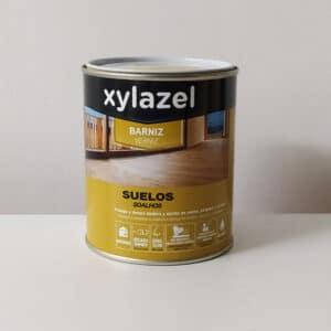 foto de barniz al agua para suelos de madera Xylazel 750ml
