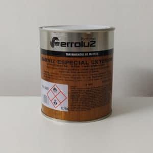 foto de reverso barniz para madera especial exterior Ferroluz