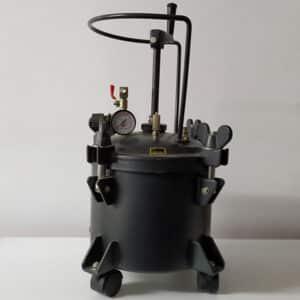 foto calderín de presión para esmaltes 10L