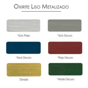 imagen carta colores esmalte Oxirite liso metalizado