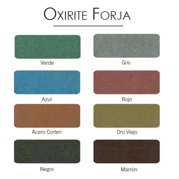 imagen carta colores esmalte Oxirite forja