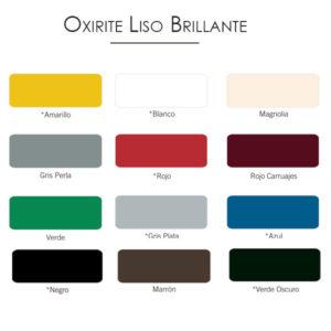 imagen carta colores esmalte Oxirite liso brillante