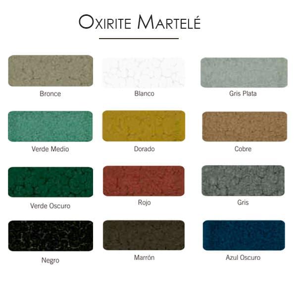 imagen carta colores esmalte Oxirite martelé
