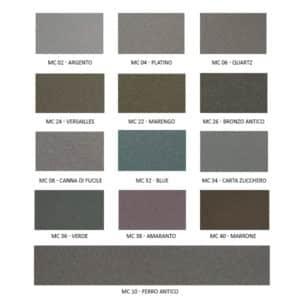 foto de carta de colores esmalte micaceo