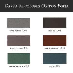 carta de colores esmalte Oxiron forja Titan