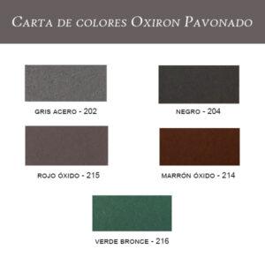 carta de colores Oxiron Pavonado Titan