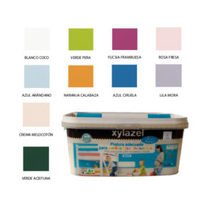 foto carta de colores pintura ambientes infantiles Xylazel