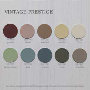 foto de carta de colores esmalte Vintage Prestige