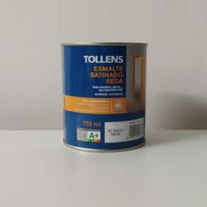 foto de esmalte acrílico al agua satinado seda Tollens 750ml