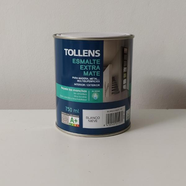 foto de esmalte acrílico con poliuretano extra mate Tollens 750ml