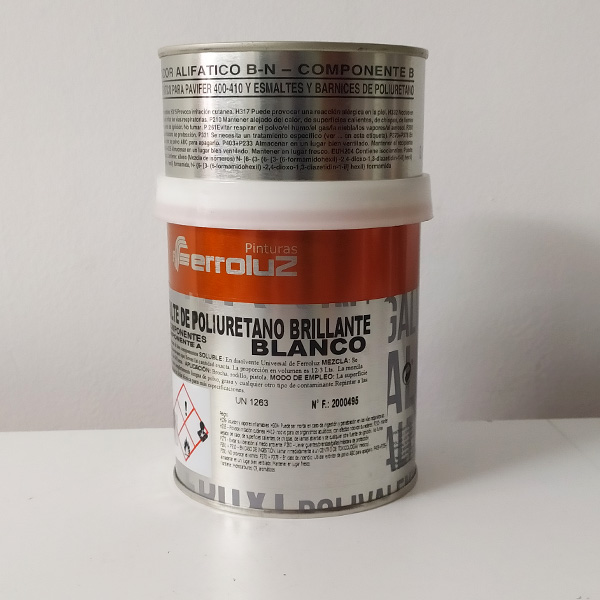 foto reverso esmalte de poliuretano bicomponente brillante Ferroluz