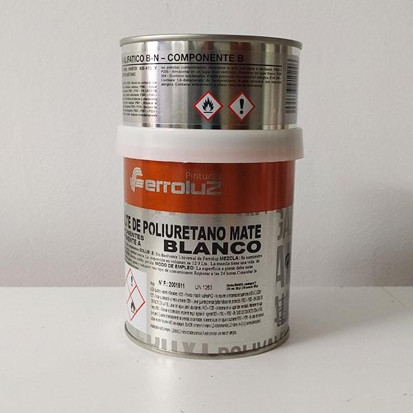 foto reverso esmalte de poliuretano bicomponente mate Ferroluz