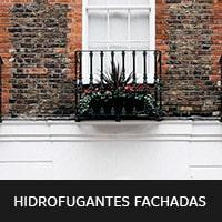 imagen de pared de ladrillo con hidrofutante para fachadas