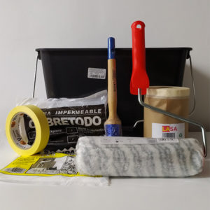 foto de kit de herramientas para pintar