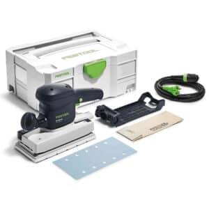 foto de lijadora profesional RS 200 ES Festool con accesorios y maletín