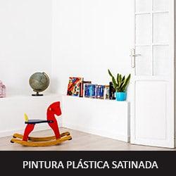 pintura plástica satinada en ambiente