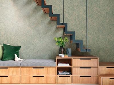 foto de pintura de alta decoración efecto metal texturizado verde