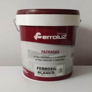 foto de pintura para fachadas al silicato Ferrosil blanco 15L