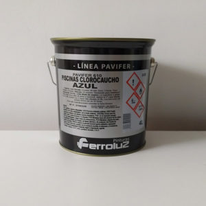 foto reverso pintura para piscinas clorocaucho al disolvente Ferroluz 2.5l
