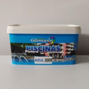 foto de pintura para piscinas gilmapin 2.5l azul