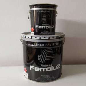 foto de pintura de poliuretano para suelos Pavifer 410 Ferroluz