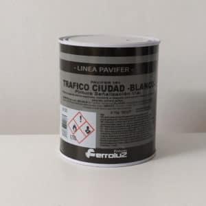 foto reverso pintura de señalización vial pavifer 151 Ferroluz