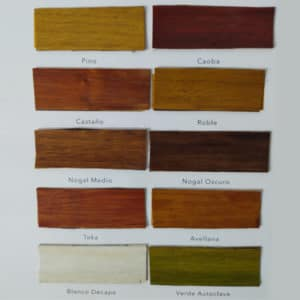 foto de carta de colores protector de madera Kilnher